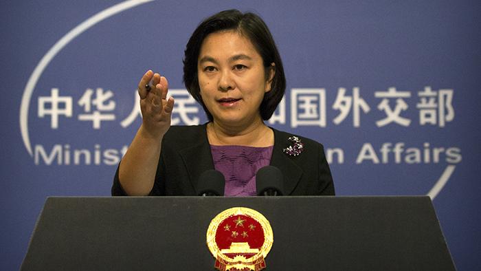 中国外交部发言人华春莹(美联社)