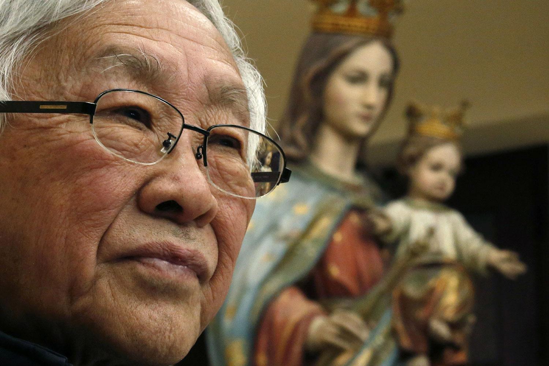 香港天主教荣休主教陈日君枢机(路透社)