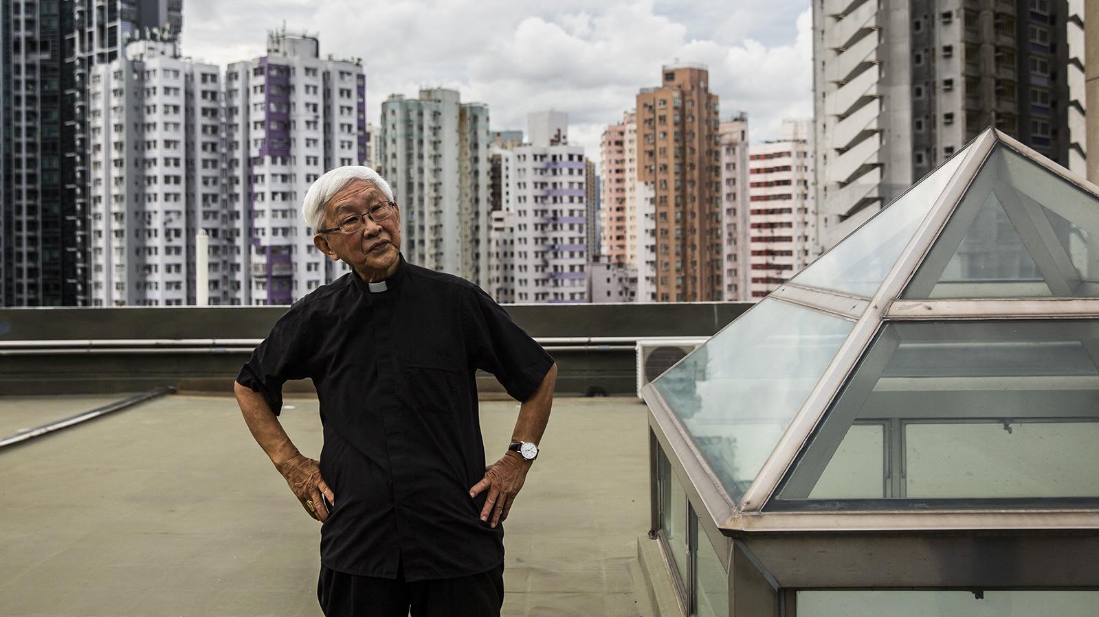 天主教香港教区荣休主教陈日君枢机。(法新社)
