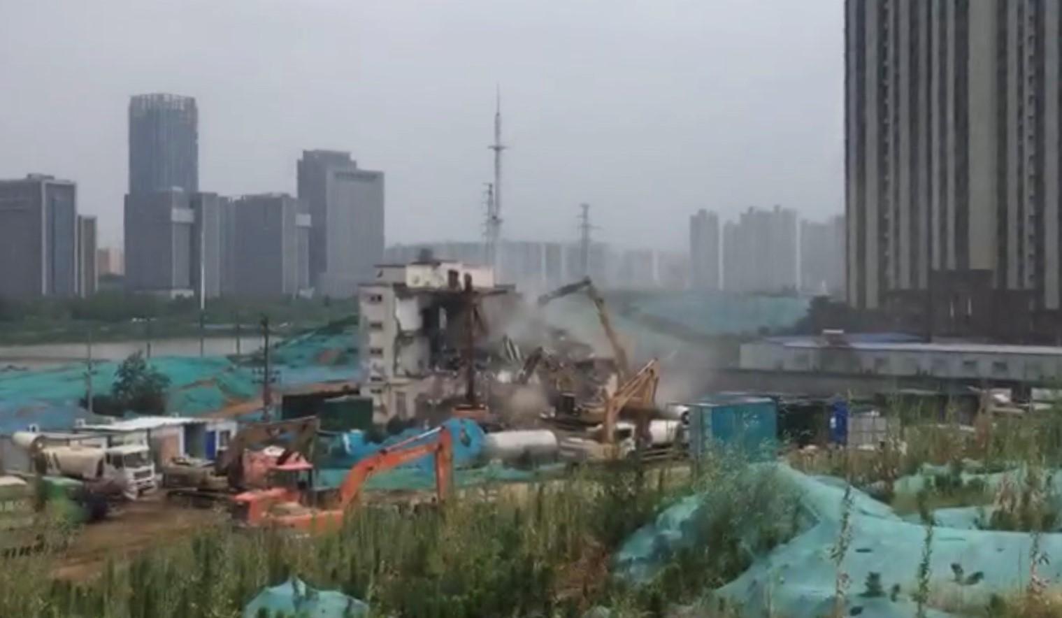 郑州孙庄基督教教会被强拆。(志愿者提供/记者乔龙)