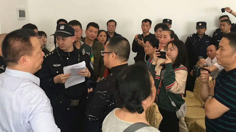 贵阳仁爱归正教会信徒聚会被警冲击。(facebook/对华援助协会)