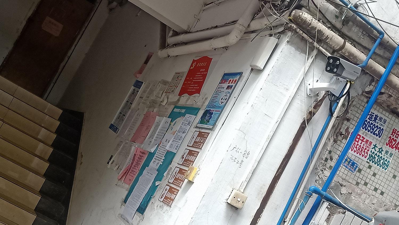 广州广福教会聚会点门口被装摄像头。(志愿者提供/记者乔龙)