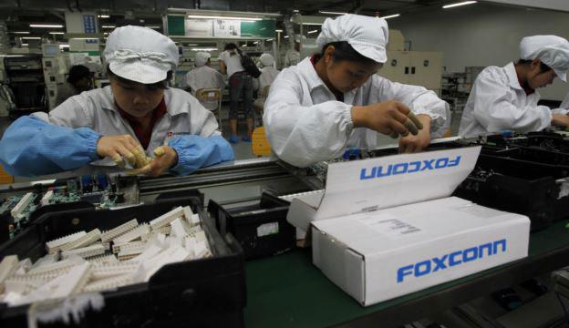 资料图片:富士康郑州工厂。(美联社)