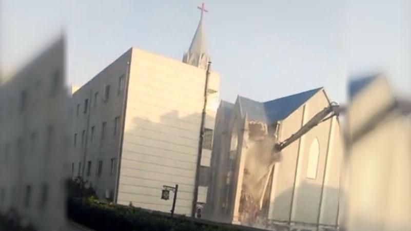 安徽阜阳基督教堂遭共匪强拆 教会负责人被刑拘