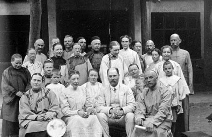 近代瑞华会传教士在山西运城的合影(瑞典东亚福音会网站)