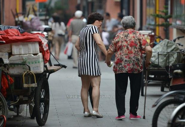 """图片:中国大陆""""老龄化""""社会问题引发关注。(法新社资料图)"""