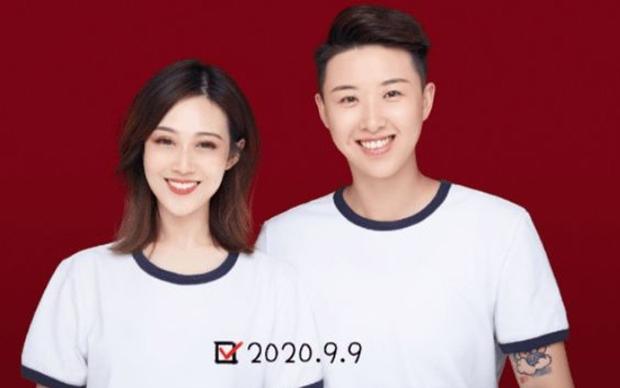 女排運動員孫文靜(右)與女友(網絡截圖)