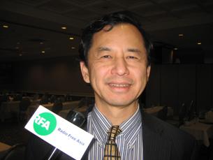 图片:台湾工研院北美总经理王韶华(RFA记者萧融摄)