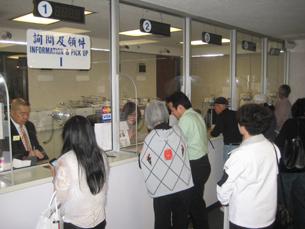 图片:台驻洛经文处受理大陆旅美人士赴台申请案件激增(RFA记者萧融摄)
