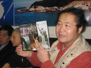"""图片:陈维明指筹建巨型民主女神像不会仅是""""纸上谈兵""""。(记者萧融拍摄)"""