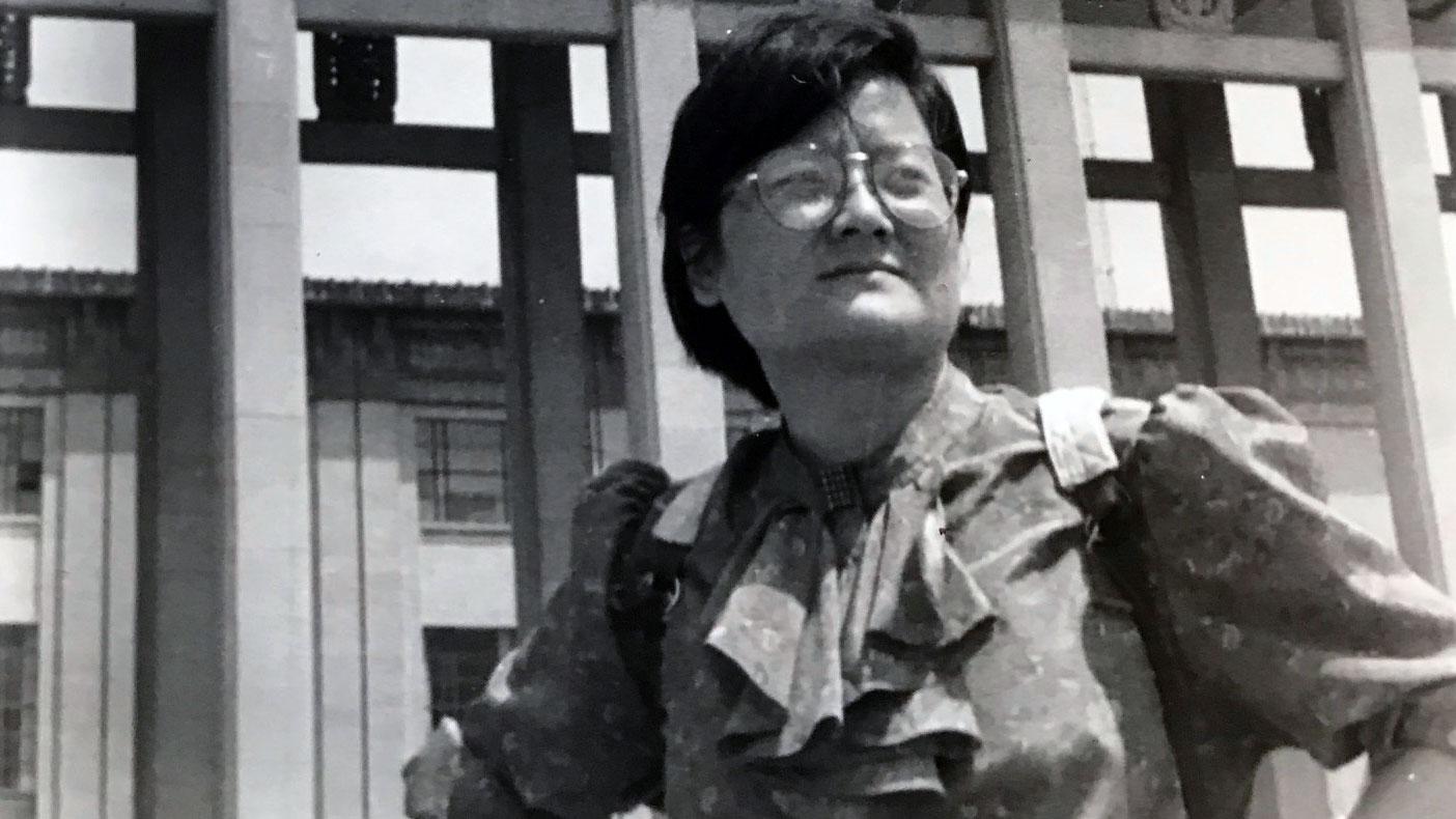 王丽玲在1989年的北京。(王丽玲提供)