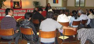 """图片:""""旧金山湾区汉藏协会""""成立典礼会场  (记者CK提供)"""