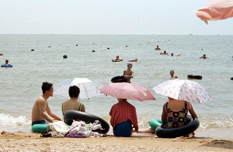 中国北戴河的一处海滩。(美联社资料图片)