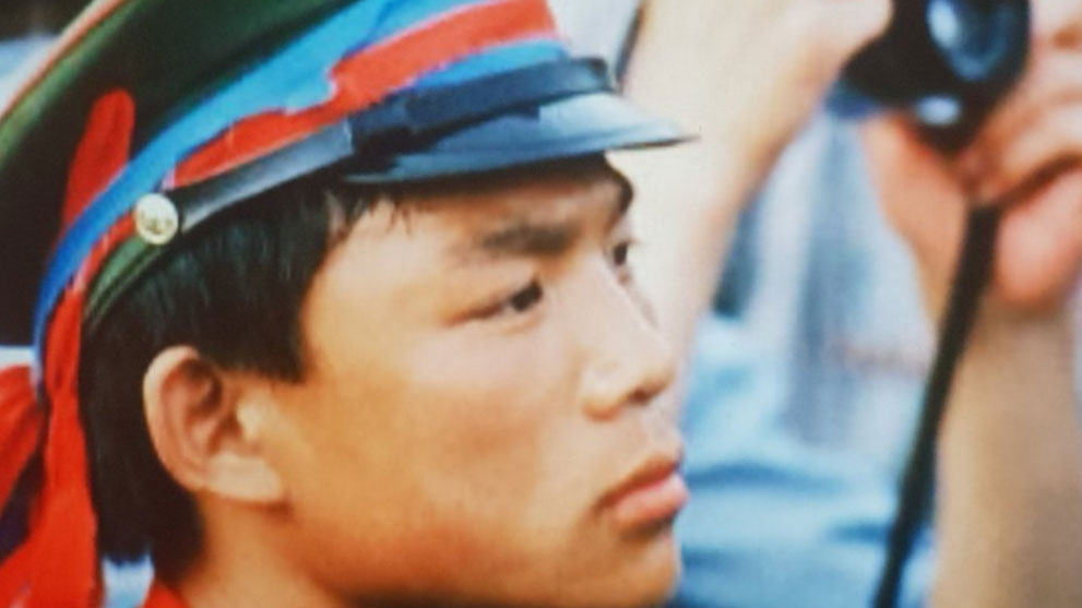 亲历八九六四民主运动在天安门广场担任学生纠察队总指挥的张健。(六四档案图)