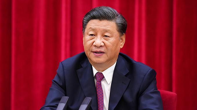 2020年9月3日,中国领导人习近平在北京举行的纪念抗战胜利75周年座谈会上讲话。(视频截图)