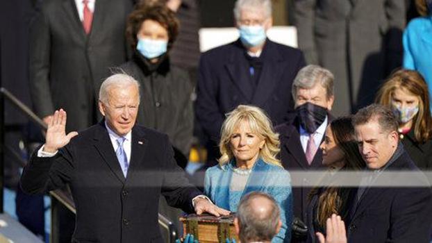 美国民主党的约瑟夫·拜登2021年1月20号宣誓就任新一任的美国总统。(AP)