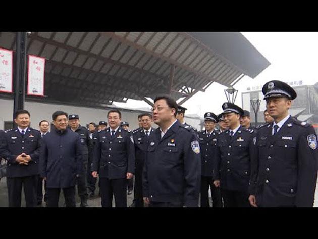 孙力军曾经是中共中央政法委前书记孟建柱秘书,因其工作勤奋、性格活跃,深得上司赏识。(视频截图)