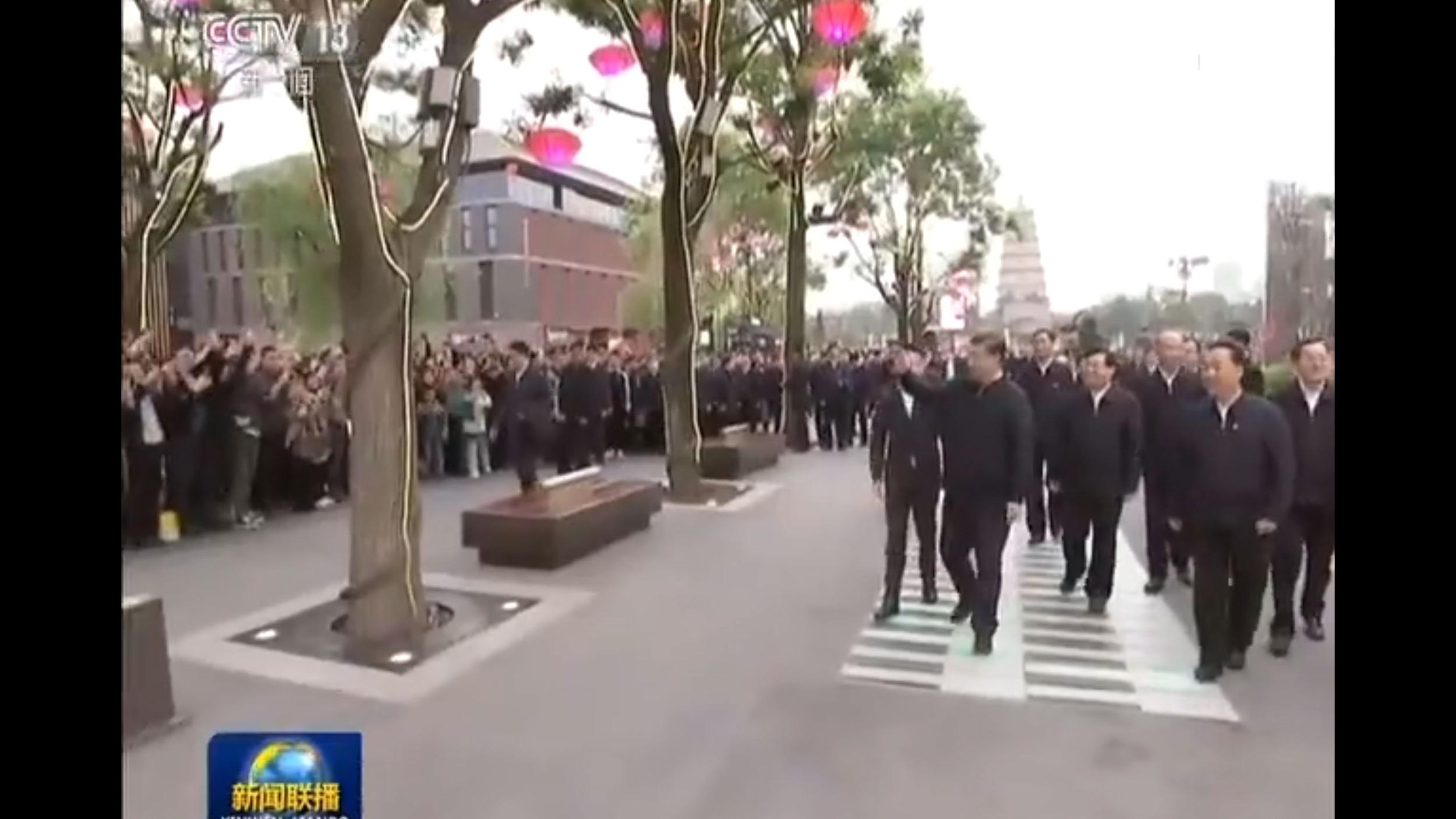 2020年4月20日至23日,习近平在陕西考察。(视频截图)
