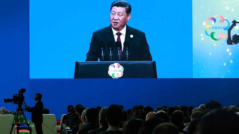 2019年5月15日,亚洲文明对话大会上习近平表示,希望亚洲各国加强交流对话,和谐共存,共同构建亚洲命运共同体、人类命运共同体。(美联社)