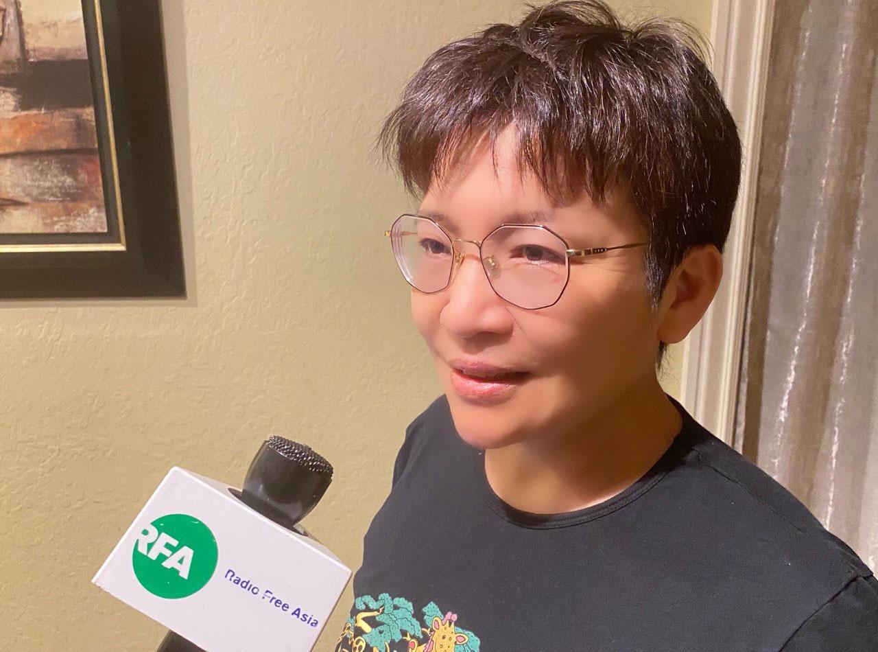 2020年11月18日,罗明珠接受记者采访,谈论任志强案。(孙诚拍摄)