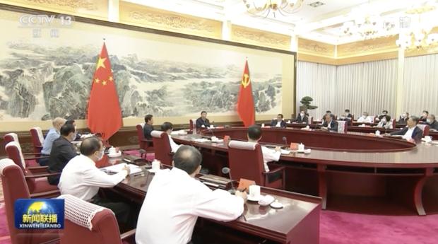 """习近平在中央政治局第三十次集体学习时表示要""""努力塑造可信 可爱 可敬的中国形象""""。(CCTV截图)"""