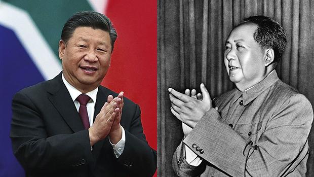 中国领导人毛泽东(右)与习近平(多维网合成图片)
