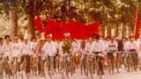 1989年5月10日,北京大學騎自行車遊行抗議 。(六四檔案圖)