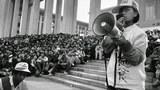 1989年5月15日,天安門廣場絕食指揮部成立 柴玲任總指揮。(六四檔案圖)