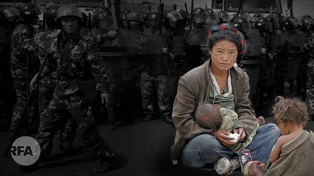西藏军事化强迫劳动的脱贫恶梦 (自由亚洲电台制图)