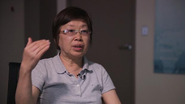 江林接受本臺採訪談她親眼所見的六四屠殺(RFA視頻截圖)