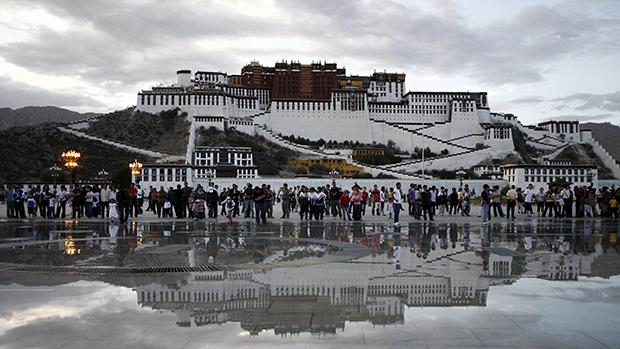 西藏拉萨的布达拉宫(美联社)