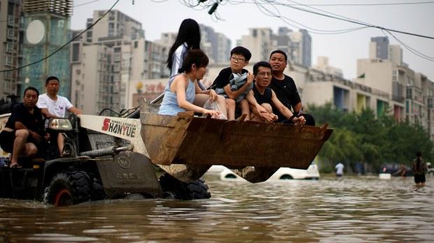 河南郑州的大水