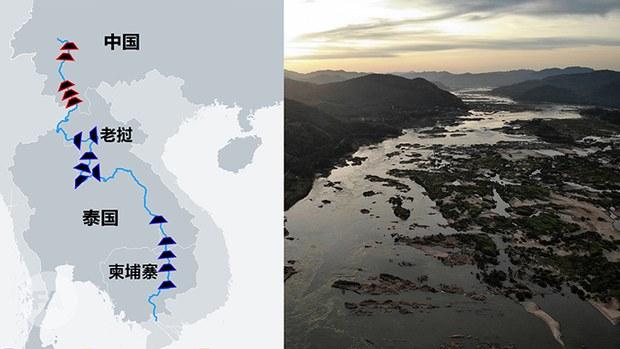 中国在湄公河上游拦水建坝与邻为祸。