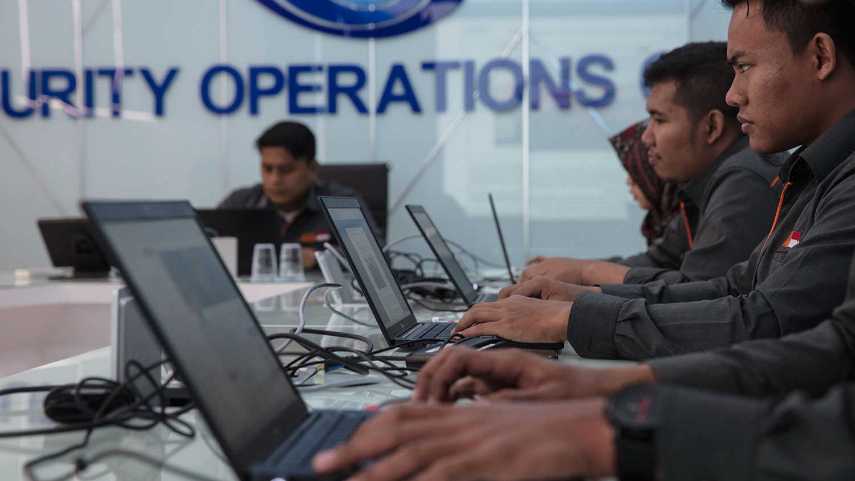 印度尼西亚政府对不实信息的作战中心:战情室(War Room)。