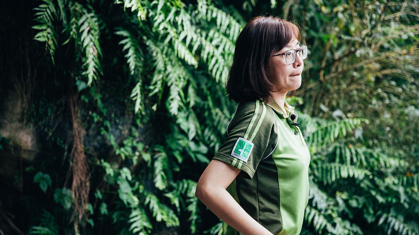台北市立动物园台湾区区长罗諠忆。(摄影/蔡耀征)