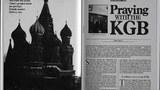 """從蘇聯訪問歸來的美國基督教史團成員之一菲利普·楊思(Philip Yancy),於次年,1992年1月13日,在《今日基督教》報紙報道這個使團會見克格勃並與之一起禱告的消息,標題是""""與克格勃一起禱告""""(Praying With the KGB)這是這篇報道的截圖,取自《今日基督教》"""