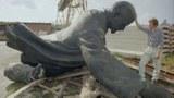 資料圖片:被遺棄的前蘇聯領導人列寧雕像。