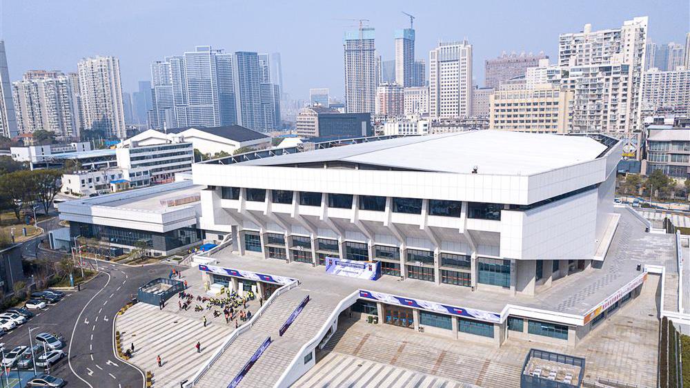 """第一座""""方舱医院""""武汉小洪山体育馆。(Public Domain)"""