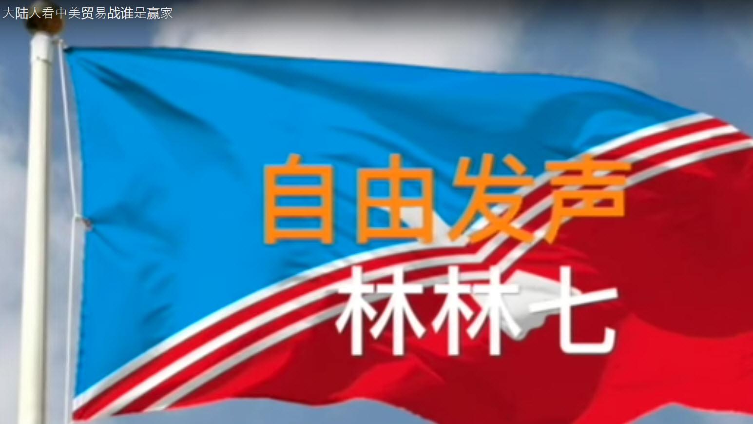 【林林七】,YouTube一档翻墙自中国大陆的时事政治自媒体节目,拥有订阅者近两万。(视频截图)