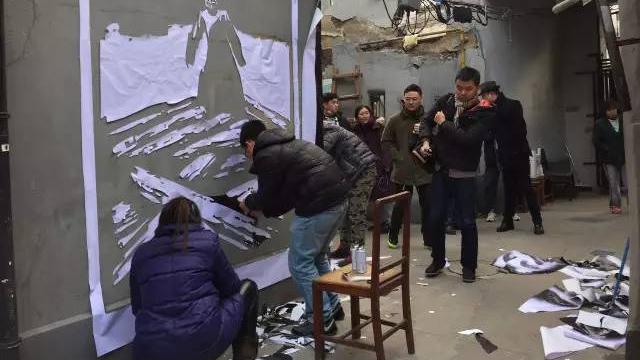 景云里51人现场,2017年2月7日。(上海双年展网站)