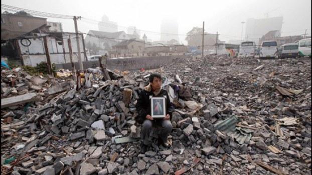 上海黃浦區董家渡3號地塊當局實施暴力強遷。(Public Domain)