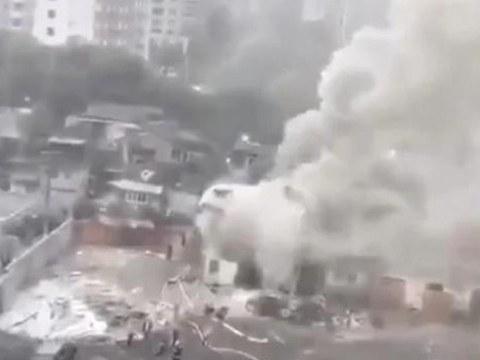 2020年11月29日,上海黄浦区董家渡3号地块因当局实施暴力强迁,点燃了煤气罐并引起剧烈爆炸。(Public Domain)