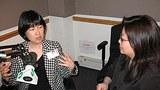 记者刘欣在接受谷季柔的采访(RFA)
