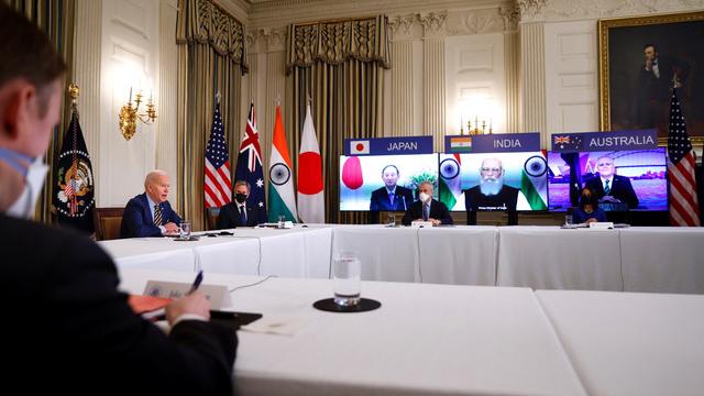 美国总统拜登参与美日印澳四方对话峰会。(路透)