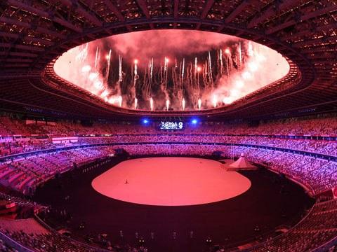 第32届夏季奥运会7月23日晚在日本东京都新宿区的国立竞技场举行了开幕式。
