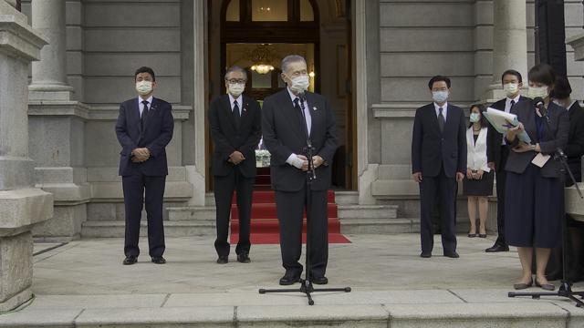 岸信夫(左一)八月九日隨同日本前首相森喜朗訪臺弔唁李登輝。(李宗翰攝)