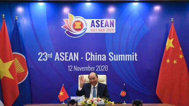 RCEP若生效,东北亚东南亚经贸将进行整合,中日韩将彼此互降关税。(法新社)