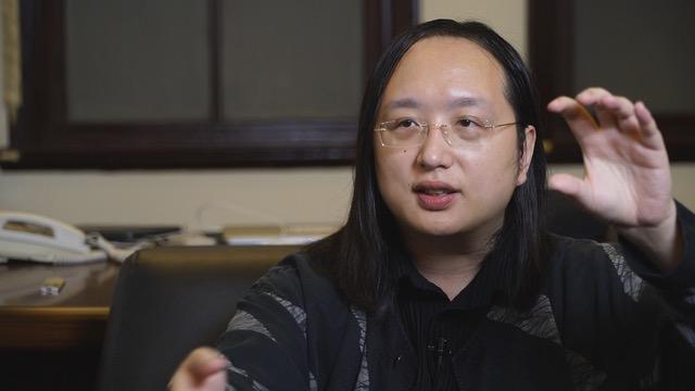 台湾的行政院政务委员唐凤说,在能确认来源的假信息当中,来自中国的占了超过一半。(李宗翰摄影  )
