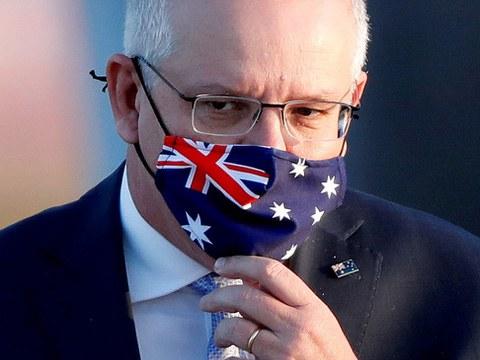 中国对澳大利亚发动猛烈的外交攻势,中澳关系跌落谷底,图为澳大利亚缌理莫里森。(路透)