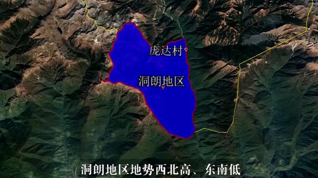 中国在西藏与不丹交界的高山地区建了一座新的村庄庞达村。(Public Domain)
